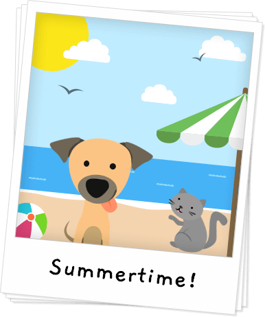 Summer Safety Tips for Pets Banner