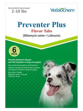 Preventer Plus (Milbemycin oxime & Lufenuron)